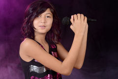 Female child singer Royalty Free Stock Photo