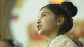 Female child singing in the choir stock video footage