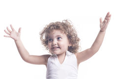 Female children with arms open Stock Photos
