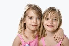 Female children twins. Royalty Free Stock Photos