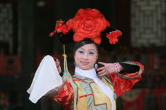 Female chinese dancer. On stage at the summer palace in beijing Stock Images
