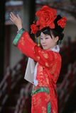 Female chinese dancer. On stage at the summer palace in beijing Royalty Free Stock Images