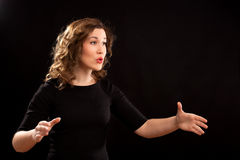 Female choir conductor Royalty Free Stock Images
