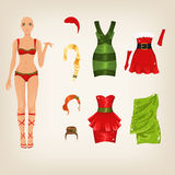 Female Christmas clothes Stock Photo