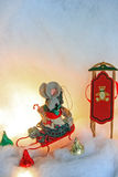 Female christmas mouse Royalty Free Stock Photos