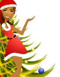 Female Christmas Presenter 2 Stock Image