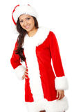 Female christmas santa Stock Photo