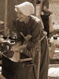 Female Civil War Reenactor Royalty Free Stock Photo