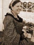 Female Civil War Reenactor Stock Photo