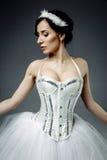 Female classic ballet dancer stock photo
