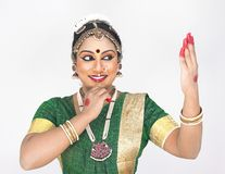 Female classical dancer from india Royalty Free Stock Photos