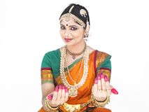 Female classical dancer of india Royalty Free Stock Images