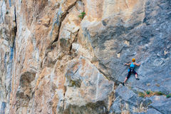 Female climber Royalty Free Stock Photo