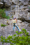 Female climber Royalty Free Stock Photography