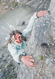 Female climber. Stock Images