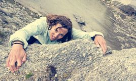 Female climber. Stock Photography