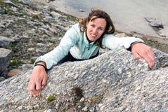 Female climber. Royalty Free Stock Image