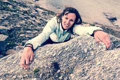 Female climber. Stock Photography