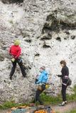 Female climbers, active women. Stock Photo