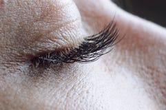 Female closed eye Stock Image