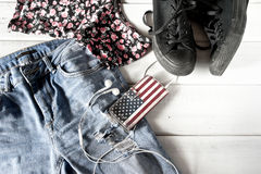 Female clothes and accessories Stock Photography