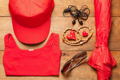 Female clothes  and accessories Royalty Free Stock Photo