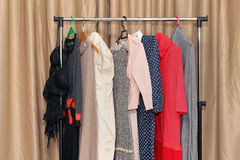 Female clothes rack Stock Images