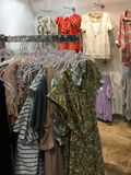 Female clothes for sale at store Royalty Free Stock Photography