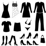 Female clothing and accessories Royalty Free Stock Photos