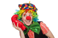 Female clown with box gloves Royalty Free Stock Photos