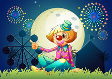 A female clown at the carnival Royalty Free Stock Photos