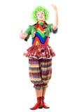 Female clown, gives a speech Stock Photos