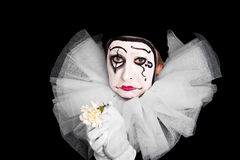 Female clown is having lovesickness Stock Photography