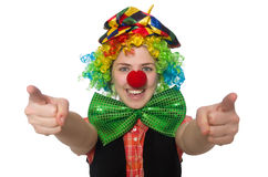Female clown isolated on white Royalty Free Stock Image