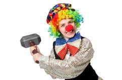 Female clown isolated on white Stock Photo