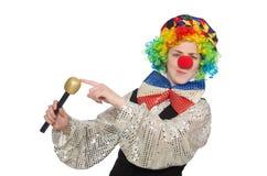 Female clown with maracas Stock Image