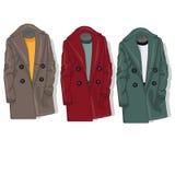 Female coat set. Vector. Royalty Free Stock Image