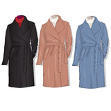 Female coat set. Vector. Stock Photography