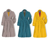 Female coat set. Vector. Stock Image