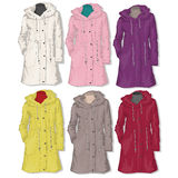 Female coat. Vector. Stock Photo