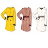 Female coat. Vector. Royalty Free Stock Image