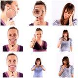 Female collage Stock Photos