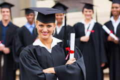 Female college graduate Stock Photography