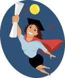 Female college graduate Stock Images