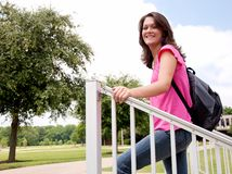 Female College Student Royalty Free Stock Photos