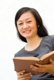 Female college student with book royalty free stock photography