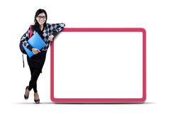 Female college student with copyspace Royalty Free Stock Photos