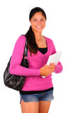 Female College Student with laptop Royalty Free Stock Photo