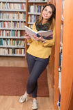 Female College Student In A Library Royalty Free Stock Image