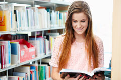 Female College Student Studying In Library Royalty Free Stock Photo